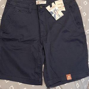 Arizona Classic Fit Flex Shorts Navy Blue Sz 36
